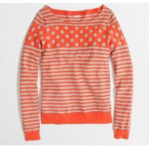J. Crew autumn mix Media striped wool sweater